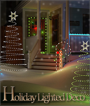 Holiday Lighted Deco 3D Models Sveva