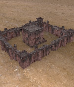 Fortress Keep Construction Set - Poser  3D Models VanishingPoint