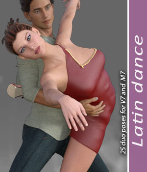 Latin dance for M7V7 3D Figure Assets halcyone