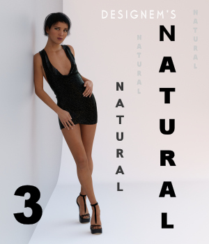 Natural 3 for G3F poses and expressions 3D Figure Assets designem