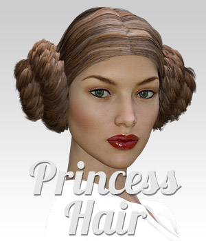 Princess Hair for G3 female(s) 3D Figure Assets powerage