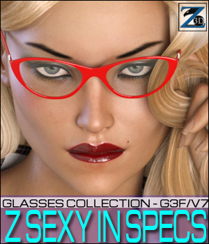 Z Sexy In Specs - Genesis 3 Female/Victoria 7 3D Figure Essentials Zeddicuss