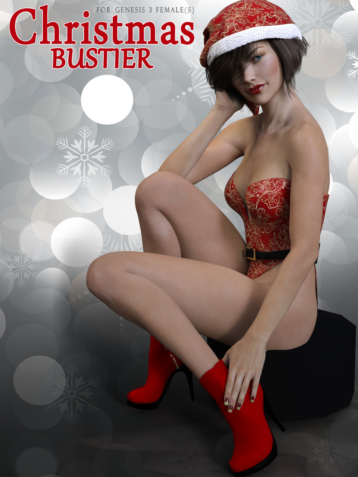 Christmas Bustier for Genesis 3 Females