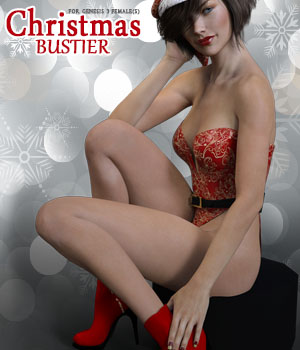 Christmas Bustier for Genesis 3 Females 3D Figure Assets xtrart-3d