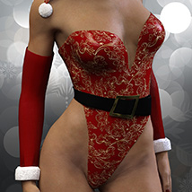 Christmas Bustier for Genesis 3 Females image 2