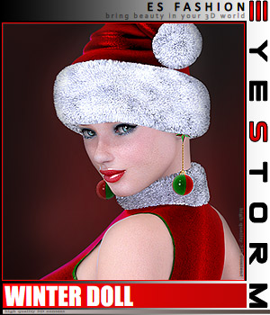 ES Winter Doll 3D Figure Assets 3D Models EyeStorm