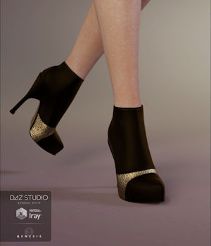 Wicked Shorty Boots 3D Figure Assets Xena