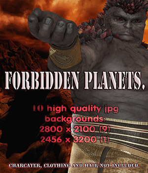 Forbidden Planets 2D Backgrounds 2D 3D Models nelmi