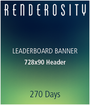 Renderosity 728x90 Leaderboard Banner :: 9 Months Services/Rosity Stuff renderositymarketing