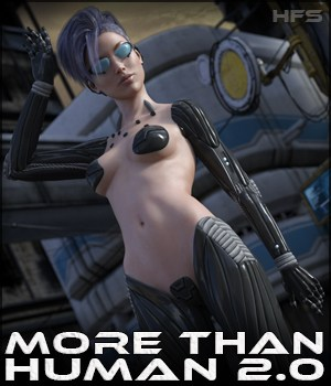HFS More Than Human 2.0 for G3F 3D Figure Assets DarioFish
