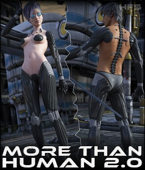 HFS More Than Human 2.0 Bundle 3D Figure Assets DarioFish