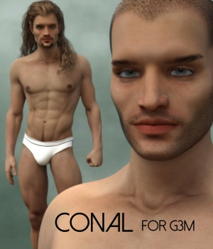 Conal for Genesis 3 Male 3D Figure Assets RedzStudio