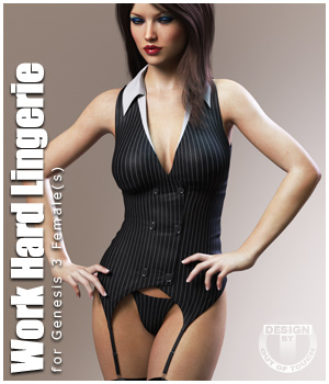 Work Hard Lingerie for Genesis 3 Female(s) by outoftouch