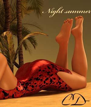 Night summer for  G3F 3D Figure Assets curtisdway