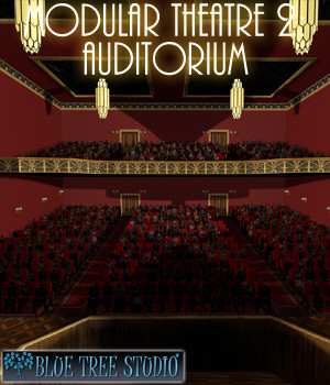 Modular Theatre 2 Auditorium 3D Models BlueTreeStudio