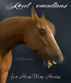 Real Horse Emotions 3D Figure Assets Luna_s20