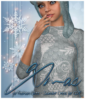 Xmas Sweater Dress G2F 3D Figure Essentials alexaana