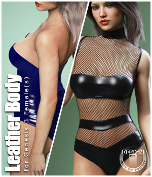 Leather Body for Genesis 3 Female(s) 3D Figure Essentials outoftouch