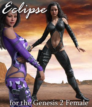 Eclipse Fantasy Clothing for G2F 3D Figure Assets RPublishing