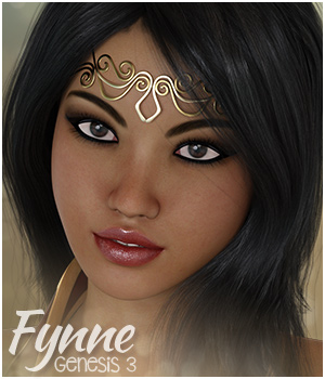 Fynne for Genesis 3 Female 3D Figure Assets Sabby