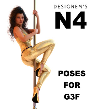 Natural 4 poses for G3F 3D Figure Assets designem