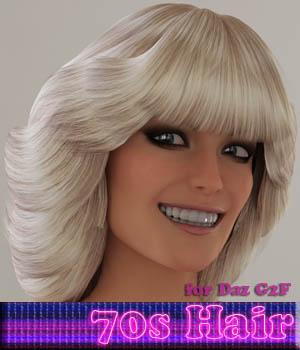 70s Hair for G2F 3D Figure Assets MayaX