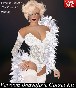 A-1 Vavoom Bodyglove Corsets Pauline by lululee