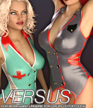 VERSUS - Work Hard Lingerie for Genesis 3 Female(s) 3D Figure Essentials Anagord