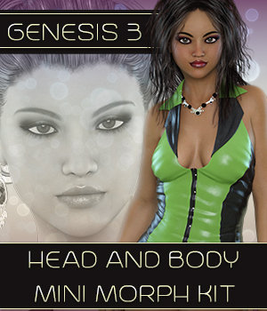 Shaped Sublime - Genesis 3 Head & Body Shapes Kit 3D Figure Assets 3DSublimeProductions