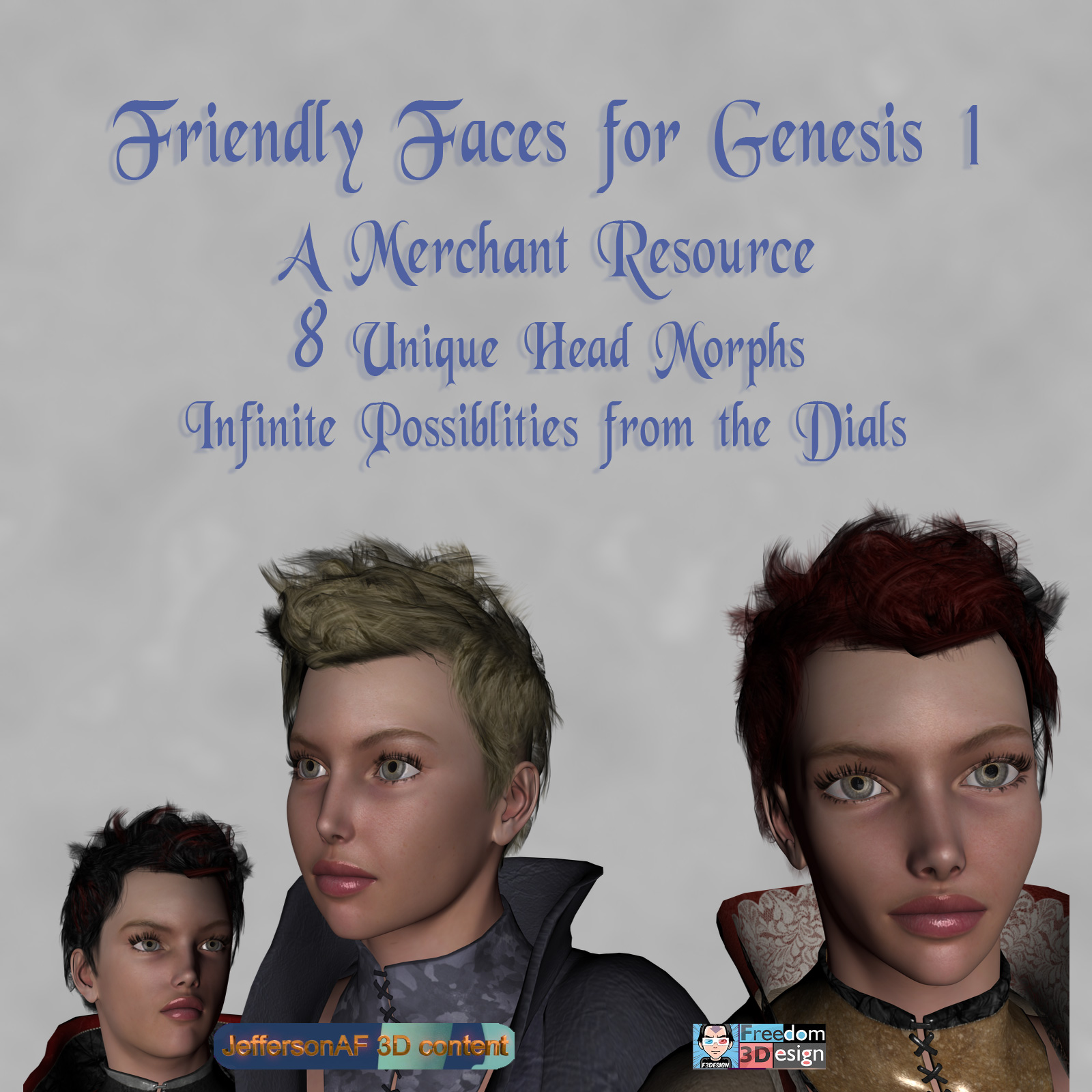Friendly Faces for the Genesis 1 Female