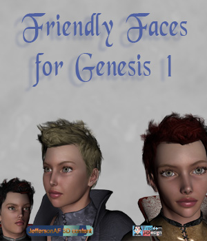 Friendly Faces for the Genesis 1 Female 3D Figure Essentials Merchant Resources JeffersonAF
