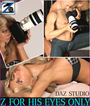 Z For His Eyes Only - Daz Studio 3D Figure Assets 3D Models Zeddicuss