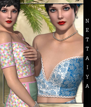 Nettaiya for Off Shoulder Set 3D Figure Essentials sandra_bonello