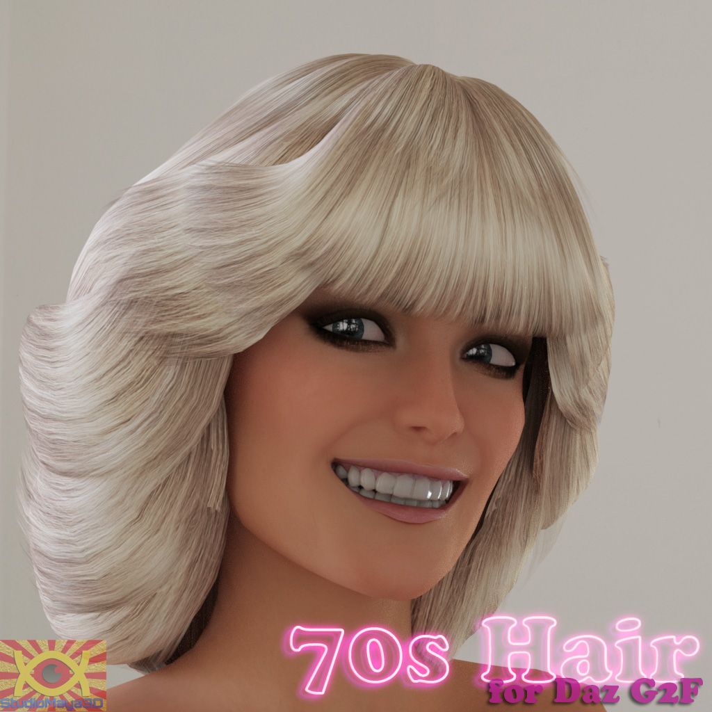 70s Hair for G2F - Extended License by MayaX