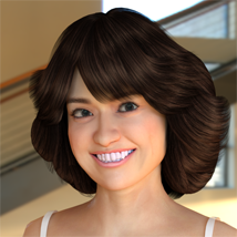70s Hair for G2F - Extended License image 1