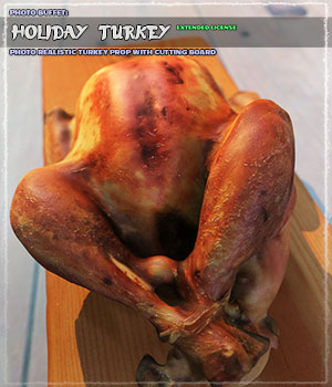 Photo Buffet: Holiday Turkey - Extended License 3D Models Gaming Extended Licenses ShaaraMuse3D