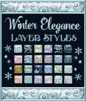 Winter Elegance Layer Styles with Bonus 2D Graphics Merchant Resources fractalartist01