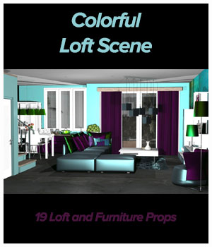 Colorful Loft by ICRDesign