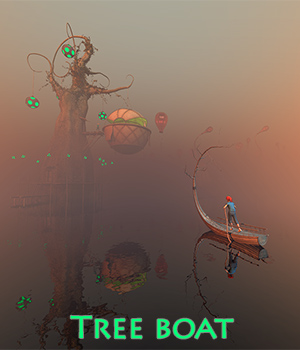 Tree boat 3D Models 1971s