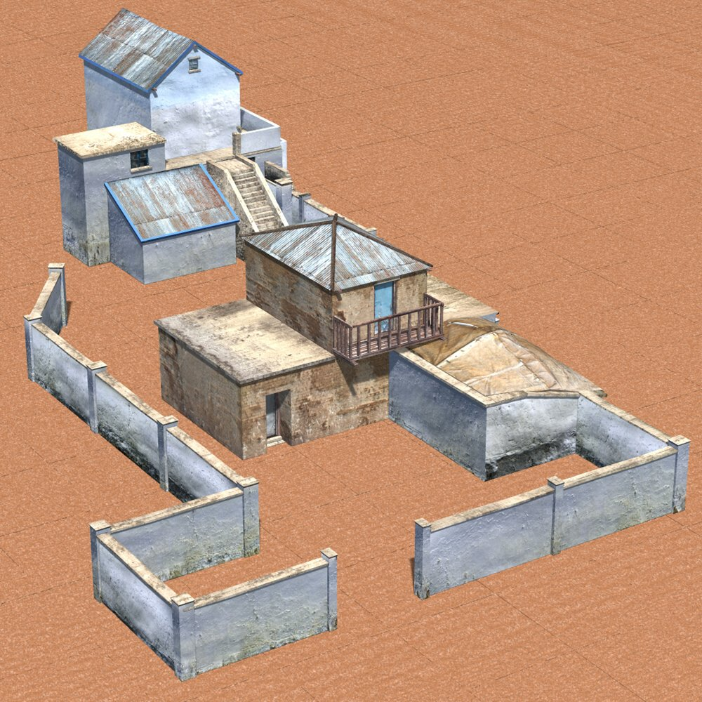Shanty Town 2: Large Compound for Poser