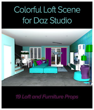 Colorful Loft Scene DS 3D Models ICRDesign