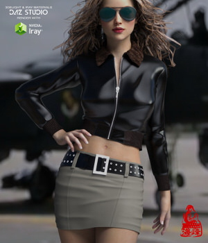 Top Gun for Genesis 3 Females 3D Figure Assets RainbowLight