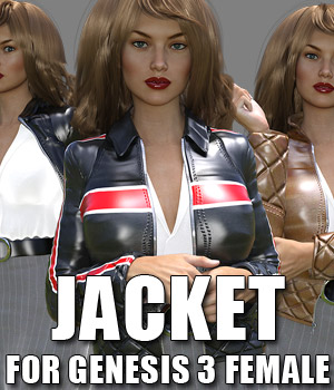 Jacket for G3 females 3D Figure Assets powerage