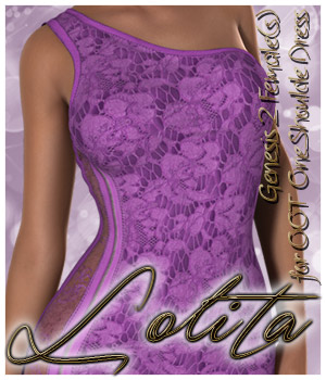 Lolita One Shoulder Dress G2F 3D Figure Essentials alexaana