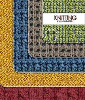Knitting :: Seamless Pattern 2D Merchant Resources Cyrax3D