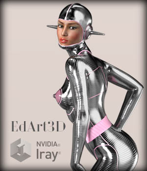 Pin-Up Gynoid Phase1 for G3F/V7 3D Figure Essentials 3D Models EdArt3D