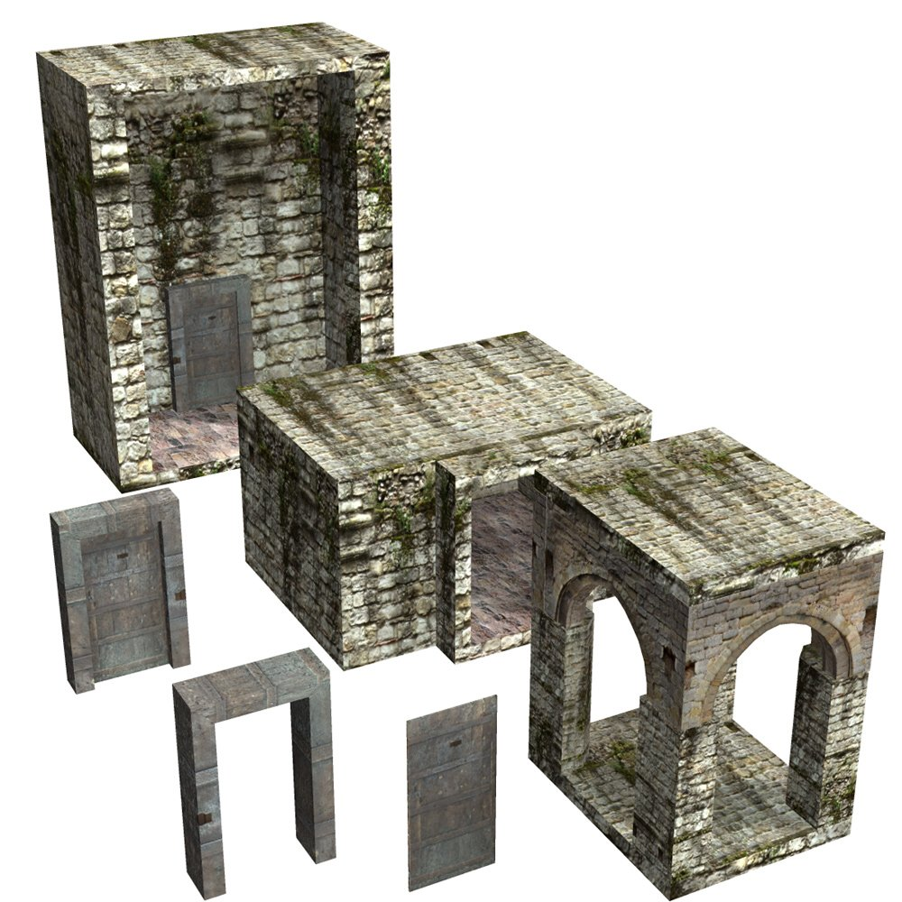 Abbey In Ruins: Construction Kit for Poser