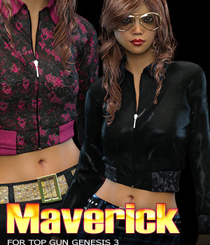 Maverick for Top Gun for Genesis 3 Females 3D Figure Assets 3DSublimeProductions