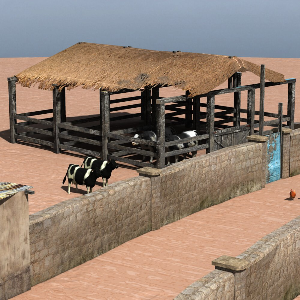 Shanty Town Buildings 2: Farm for Poser