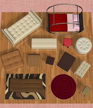 Sensuous Furniture II 3D Models Richabri